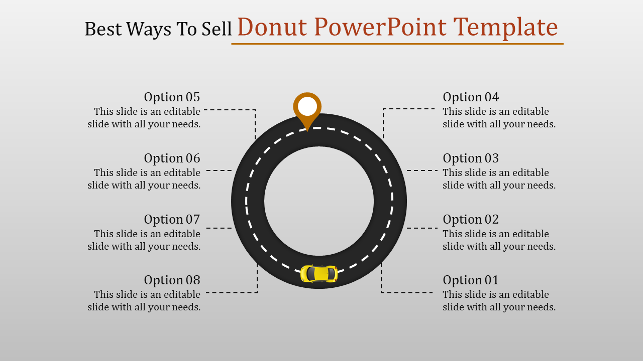 Mapping Donut Powerpoint Template