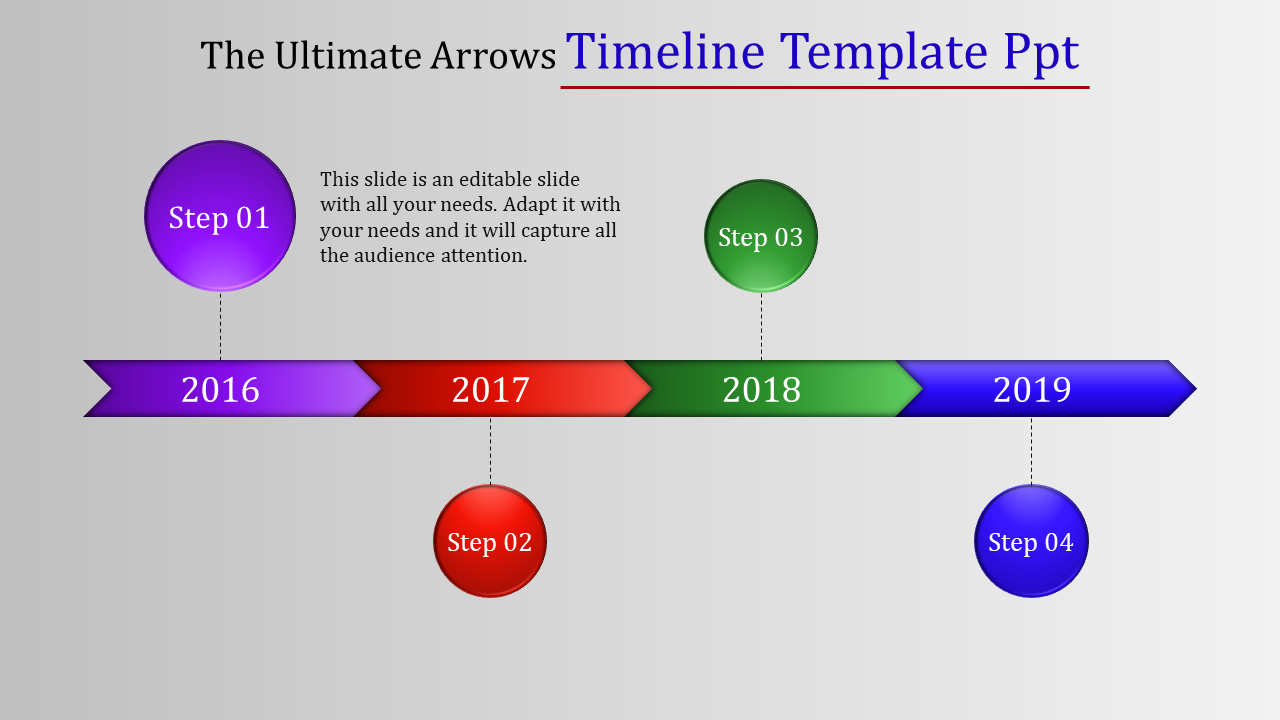 Timeline Template PPT - Colorful