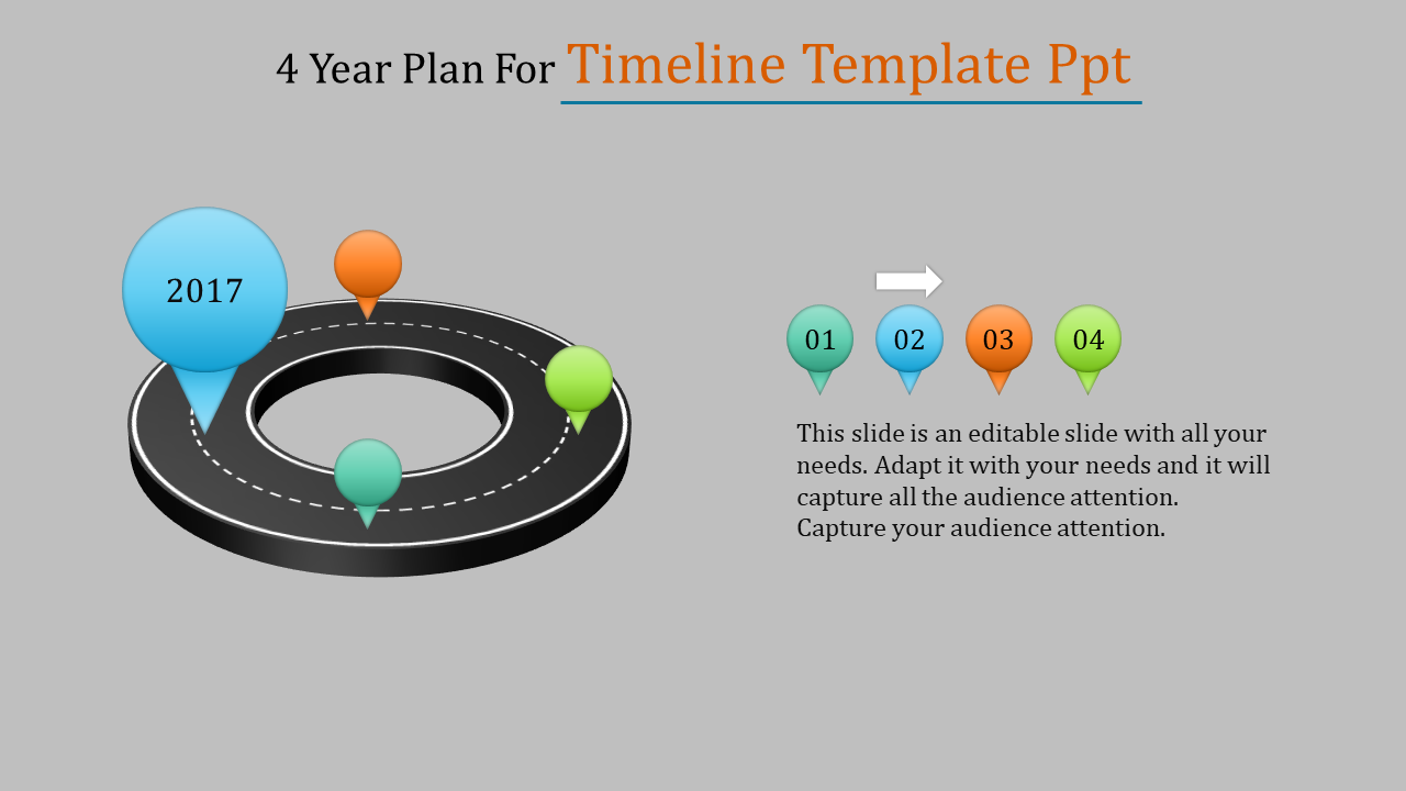 Road Model Timeline Template PPT