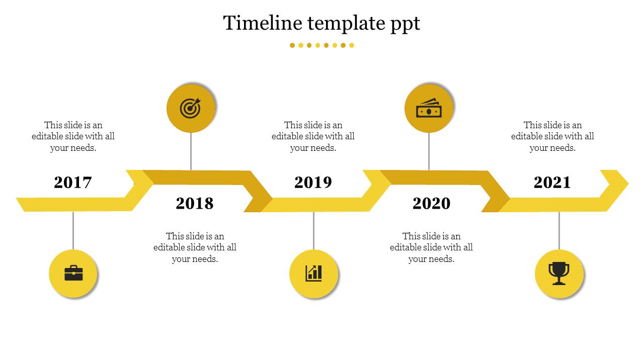 Linear Timeline Template Ppt Slideegg