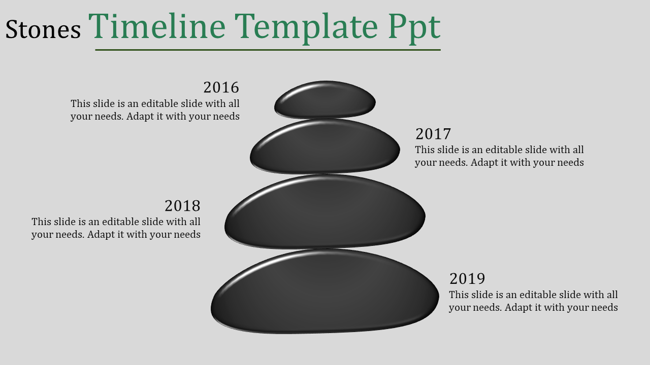 Timeline Template PPT - Stone Model
