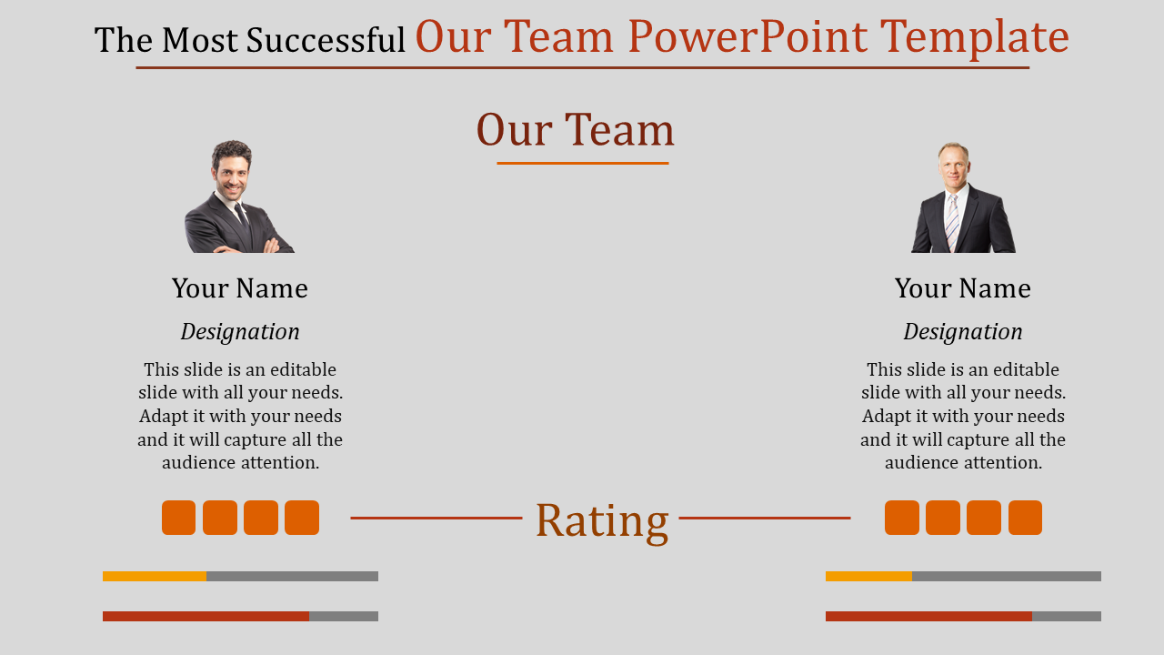 SlideEgg | our team powerpoint template-The Most Successful Our Team