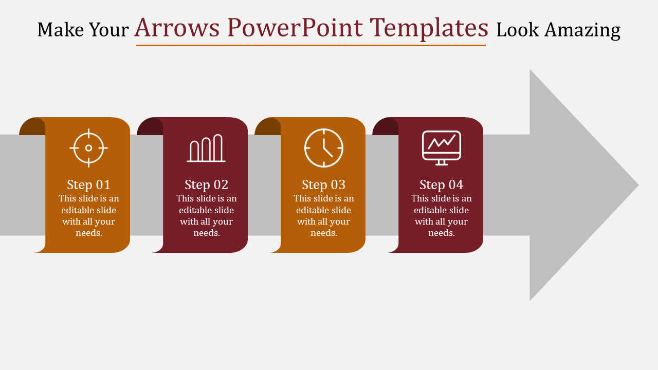 Simple Guidance For You In Arrows Powerpoint Templates
