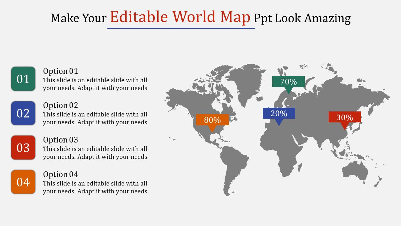 SlideEgg   editable world map ppt-Make Your Editable World Map Ppt