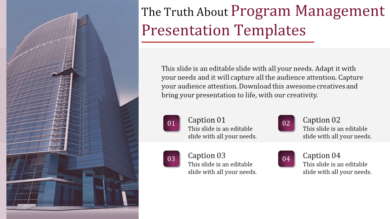 Program Management Presentation Templa