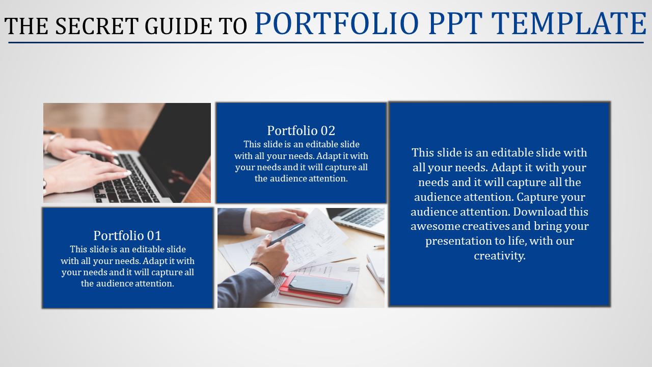 personal career portfolio powerpoint