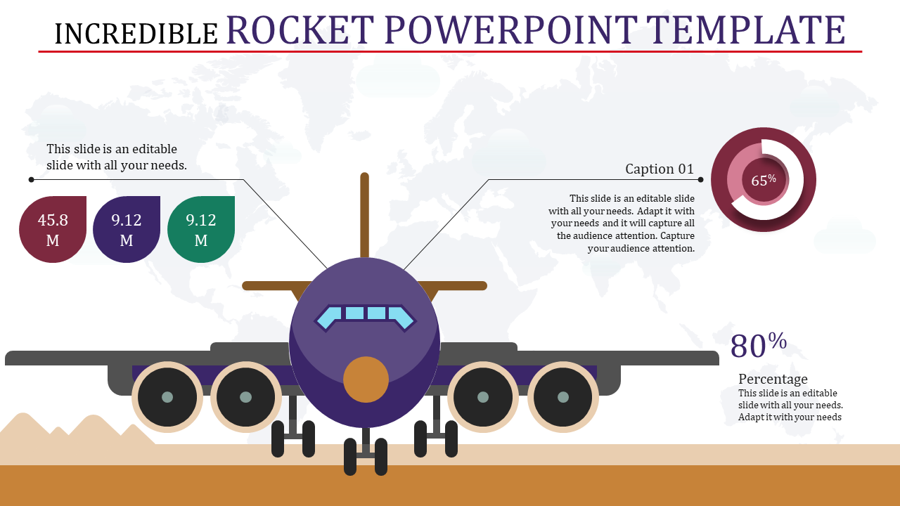 incredible rocket powerpoint template