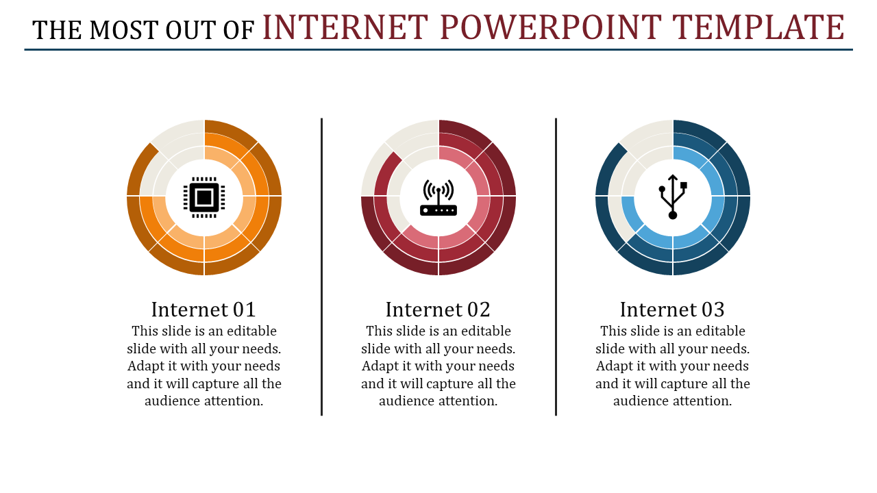 Internet Powerpoint Template - Multi Color