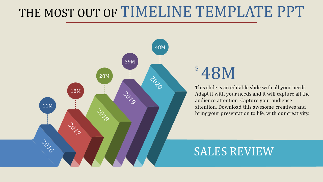 Graphical Timeline Template PPT