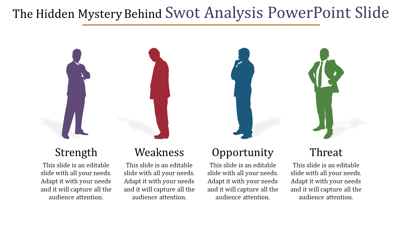 Free-Professional SWOT Analysis Powerpoint Slide