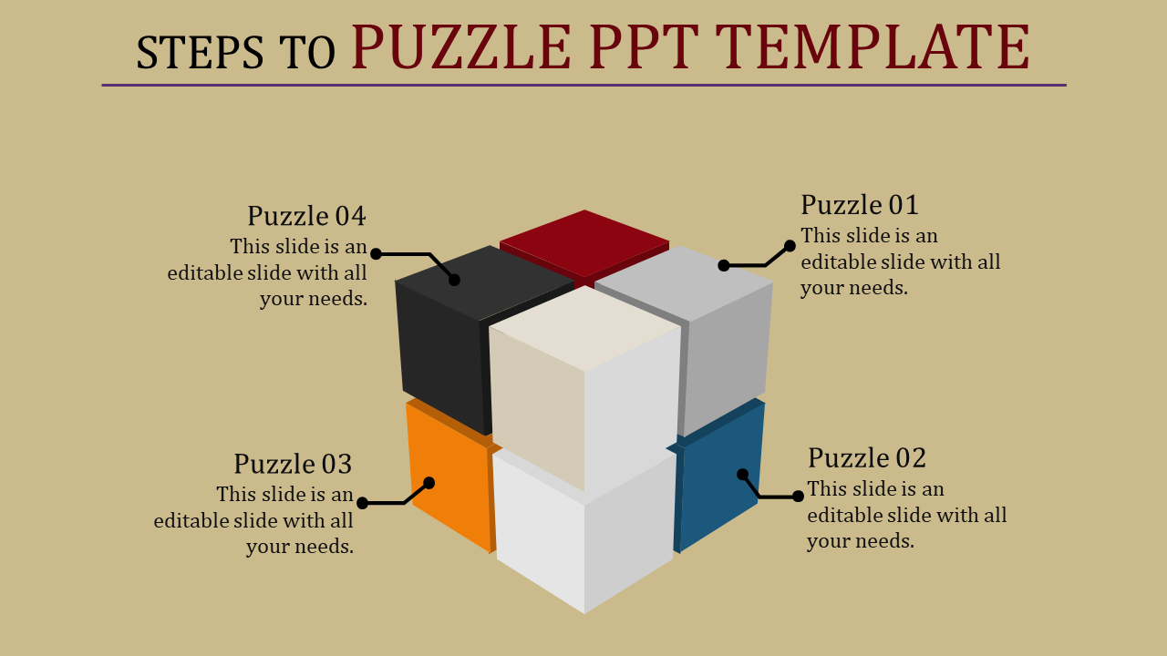 Puzzle Powerpoint Template -  Segmented Cubes