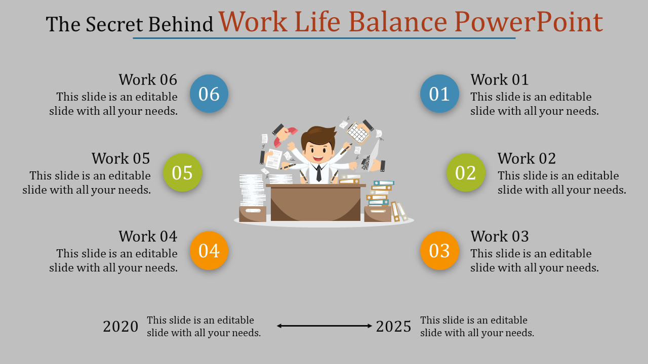 Work Life Balance Powerpoint - Six Stages
