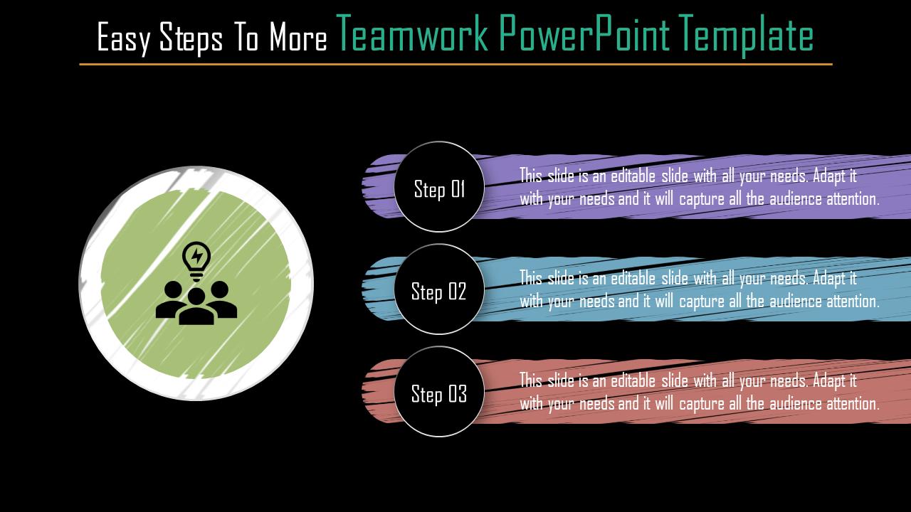 Horizontal Teamwork Powerpoint Template