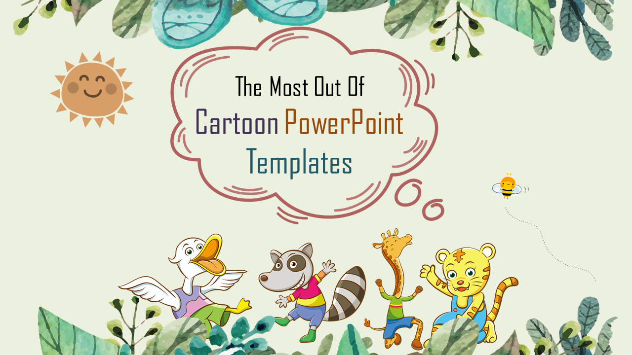 Jungle Cartoon Powerpoint Templates Slideegg