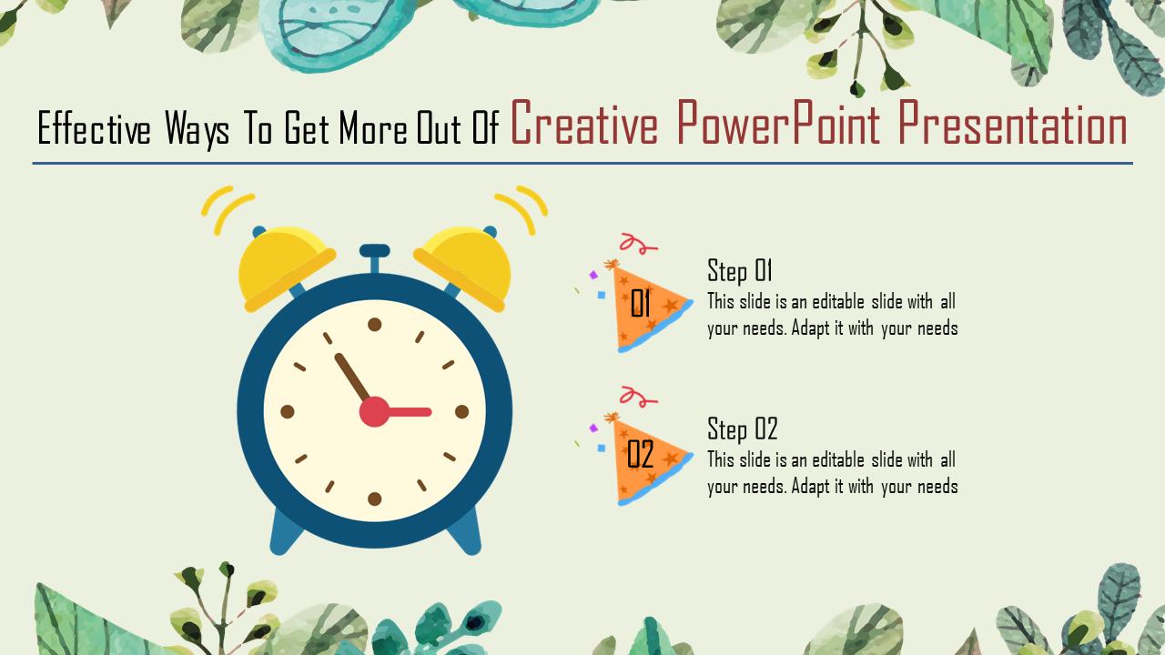 Alarm Clock Creative Powerpoint Presentation