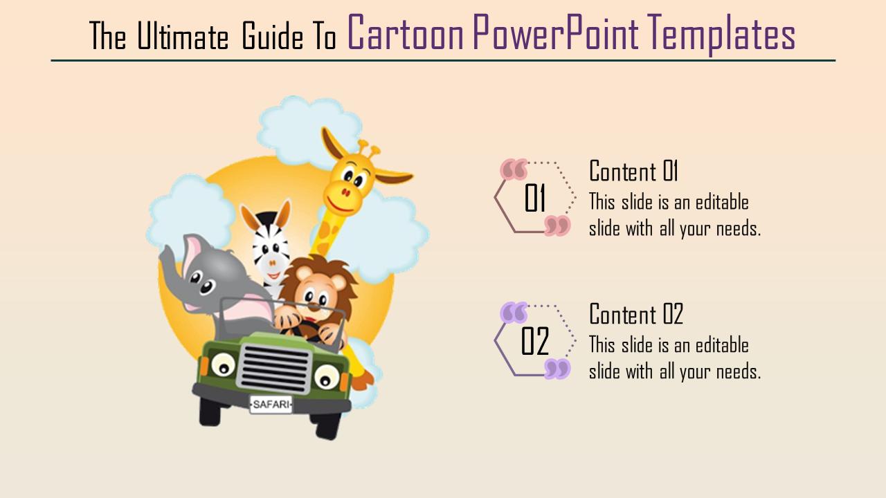 Attractive Cartoon Powerpoint Templates Slideegg