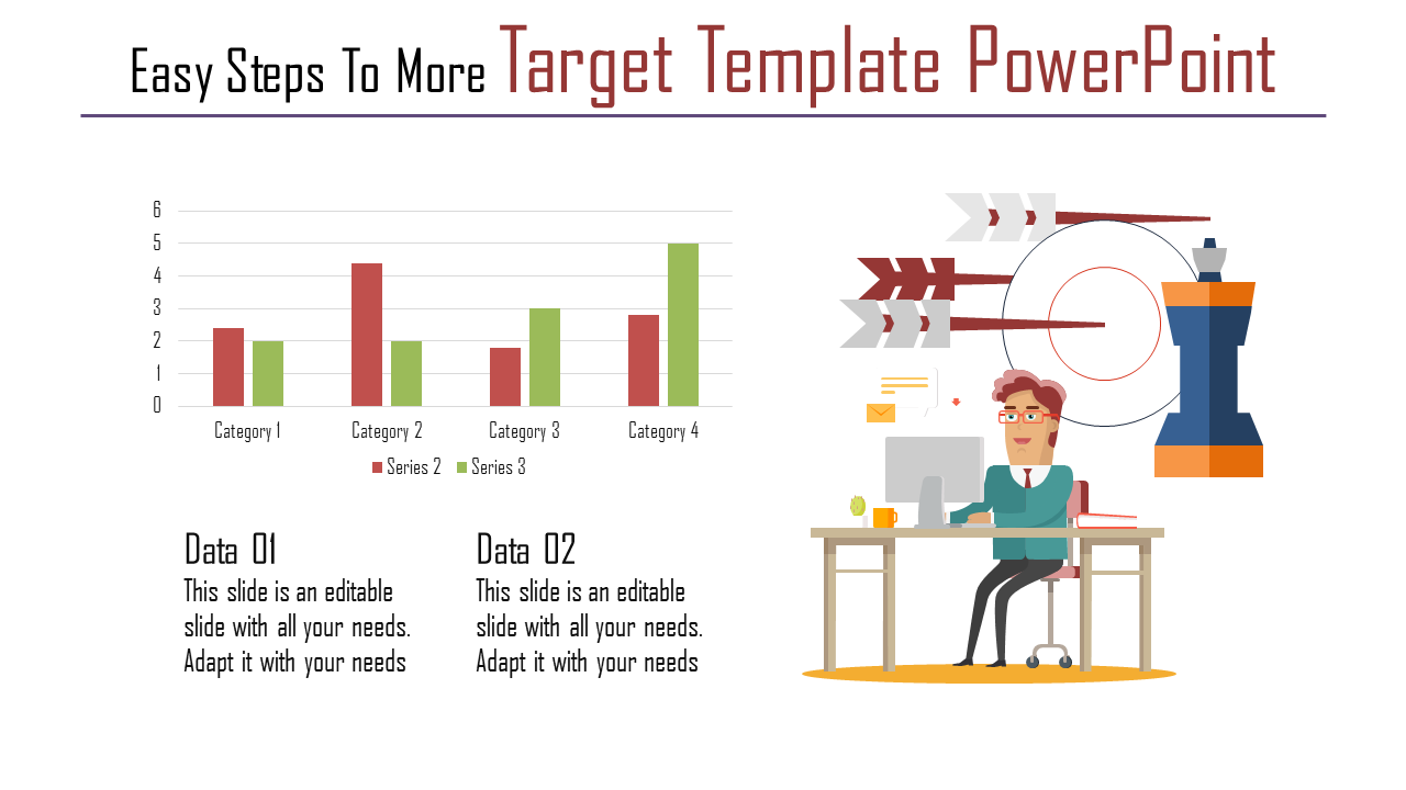Target Template Powerpoint With Chart Model