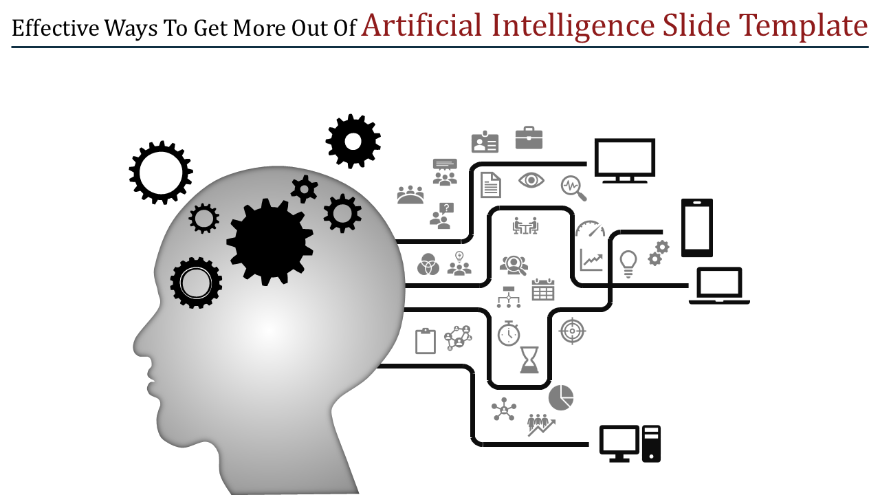 A four noded artificial intelligence slide template