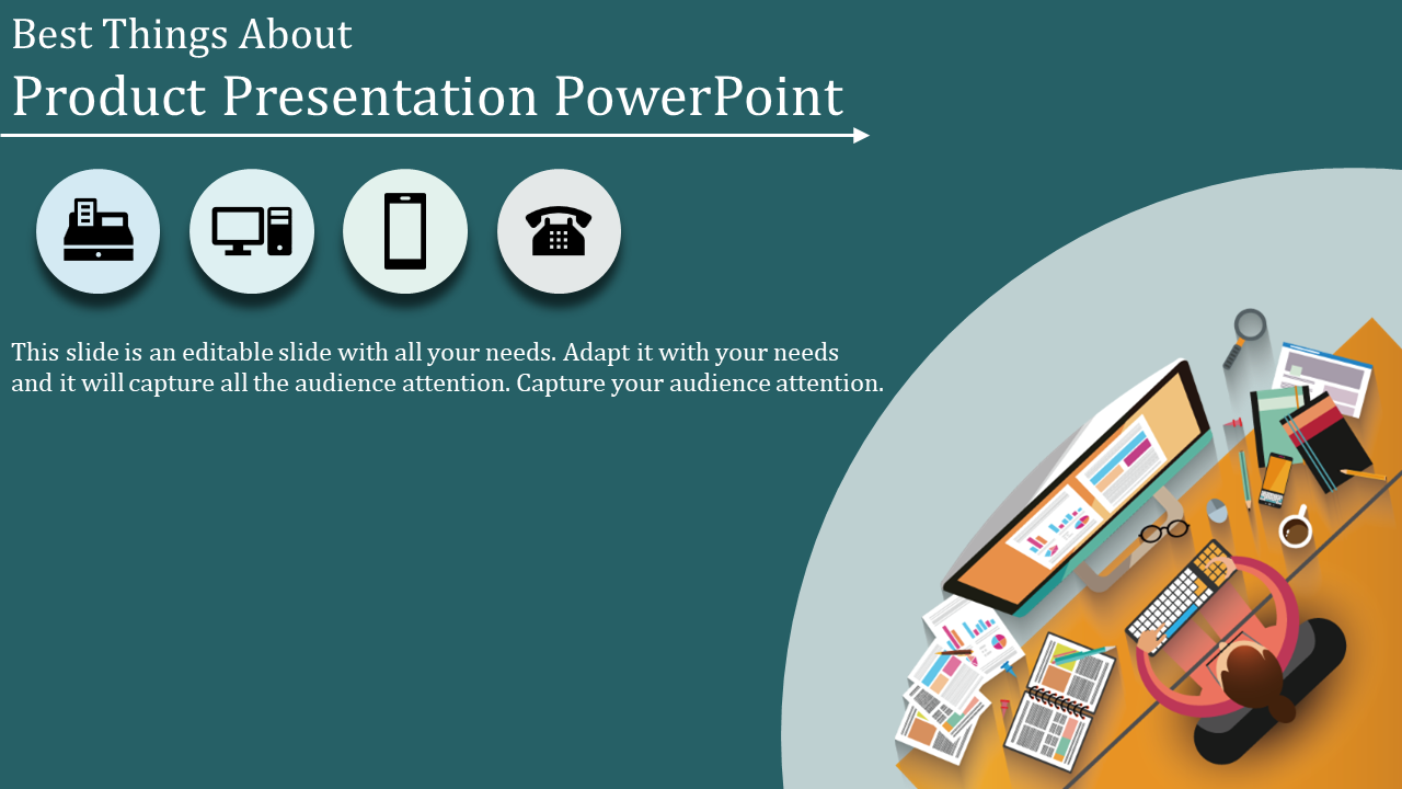 A Four Noded Product Presentation Powerpoint