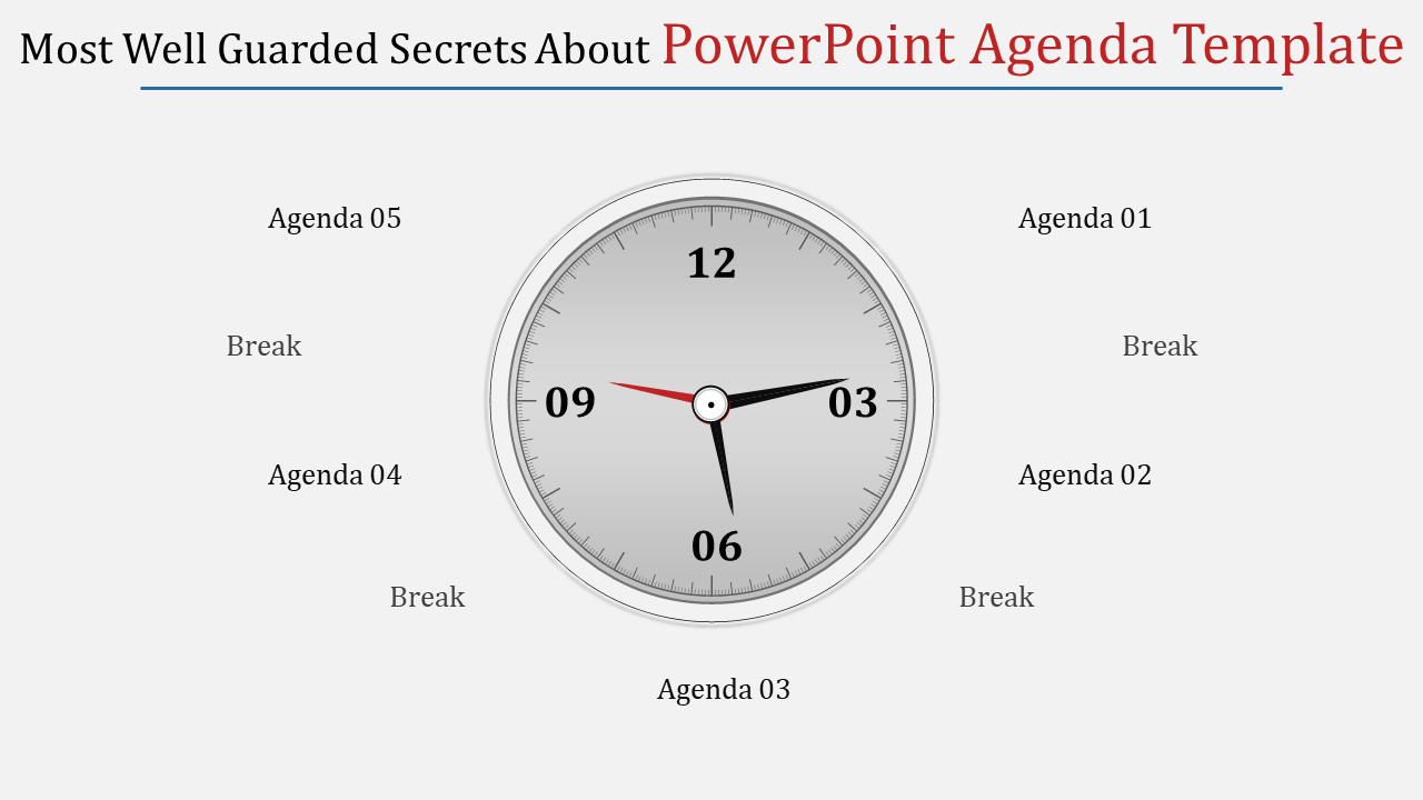 A Five Noded Powerpoint Agenda Template