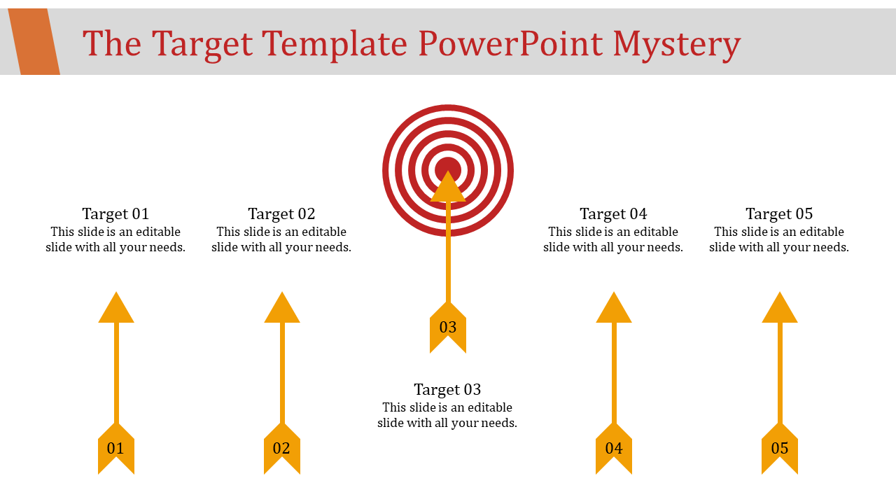 Upward Target Template Powerpoint