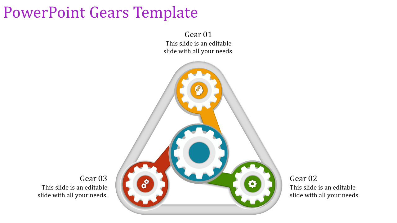 PowerPoint gear template-triangle model