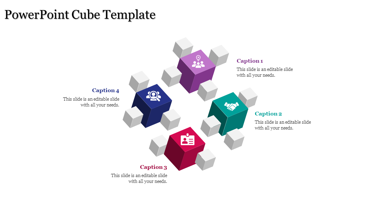 A Four Noded Powerpoint Cube Template