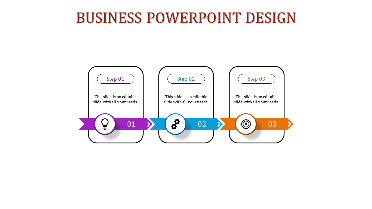 Three Multi Color Pipeline Business PowerPoint Presentation