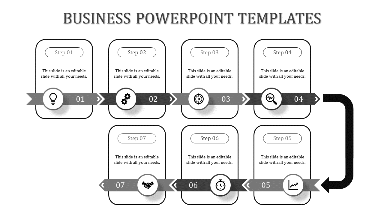 grey color Pipeline Business PowerPoint Presentation