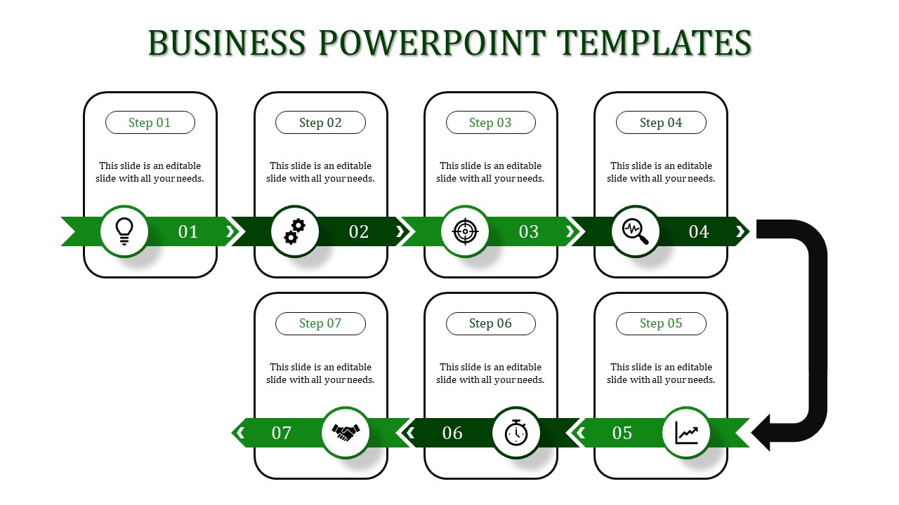 Pipeline Business PowerPoint Presentation-7 Green