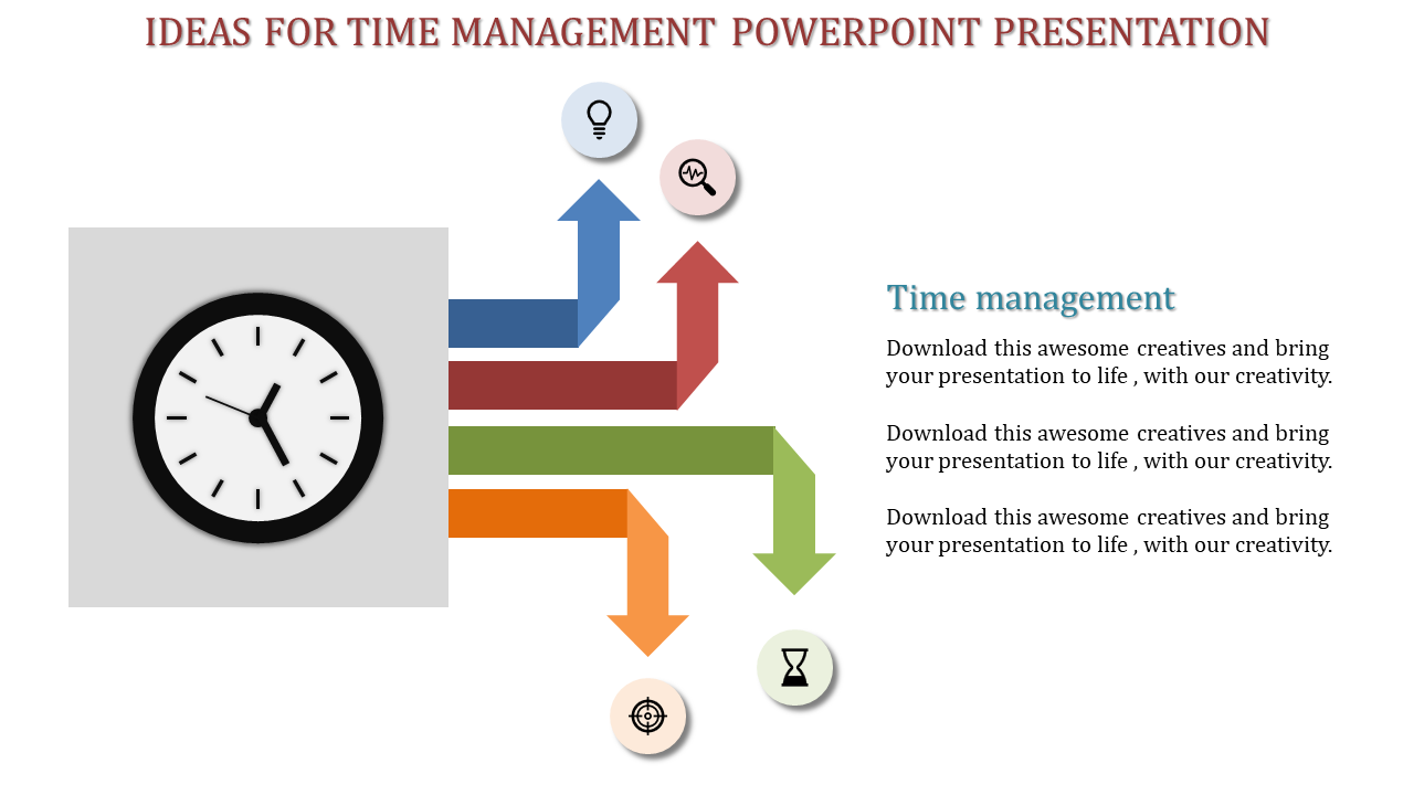 A Four Noded Time Management Powerpoint Presentation Slideegg