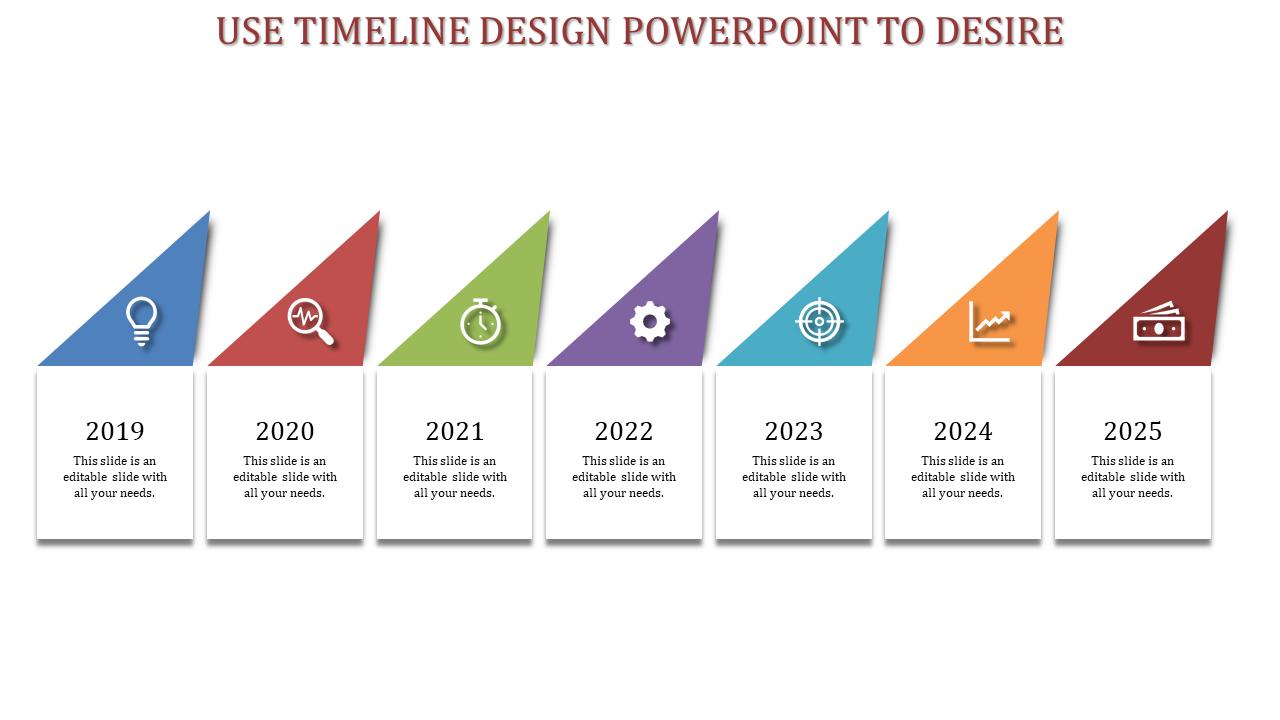 Timeline Design Powerpoint - Triangle Model