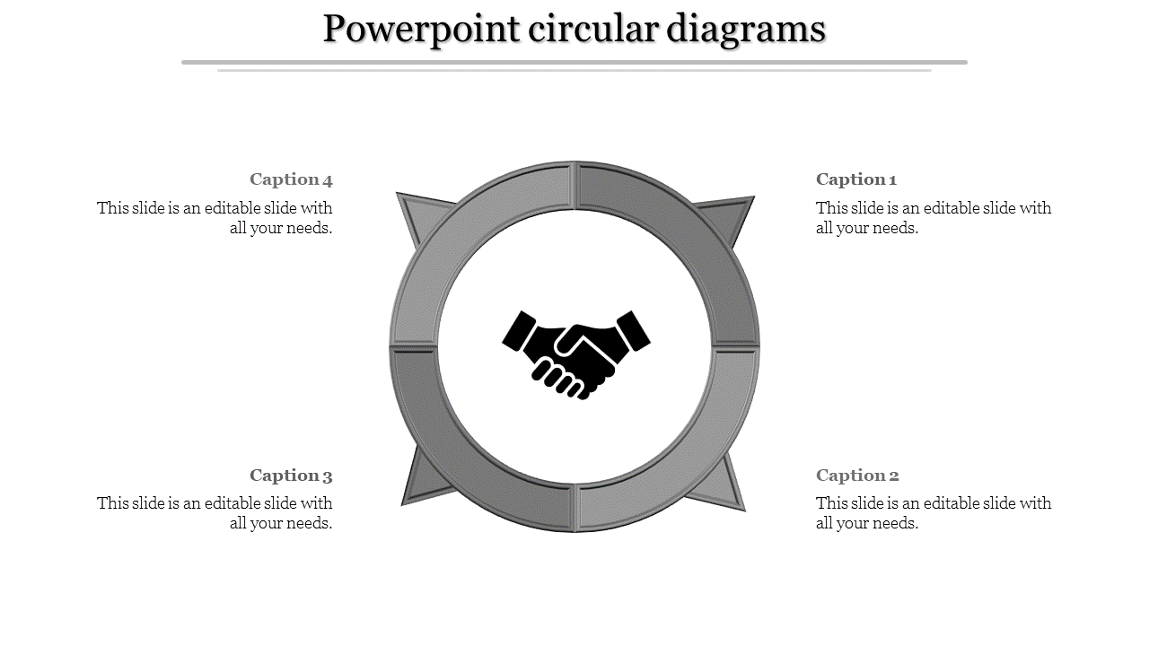 A Four Noded Free Powerpoint Circular Diagrams To Download