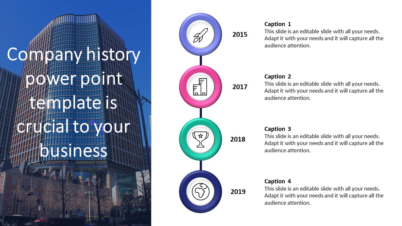 Company History Powerpoint Template Slideegg