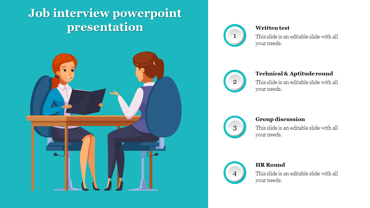 Free - Job Interview Powerpoint Presentation For Company