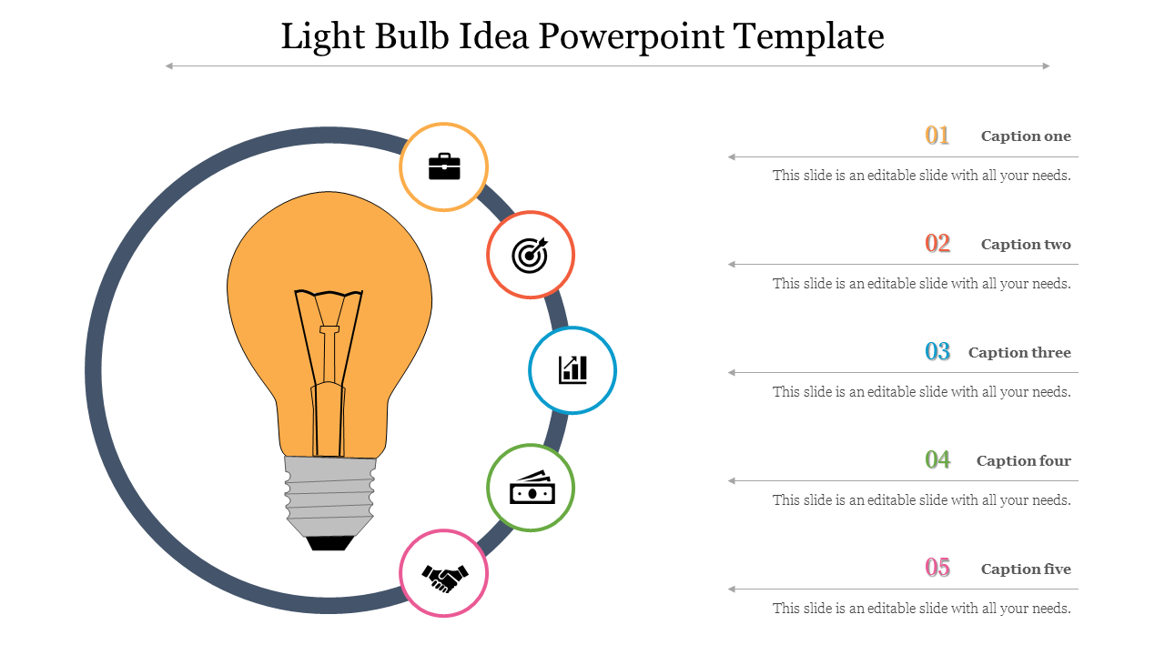Free - Light Bulb Idea Powerpoint Template For Business