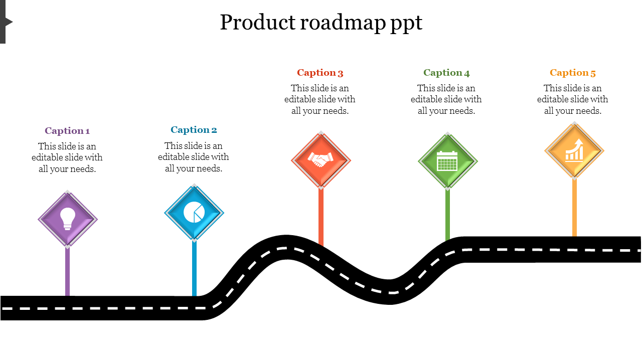 Product Roadmap Ppt Template Slideegg