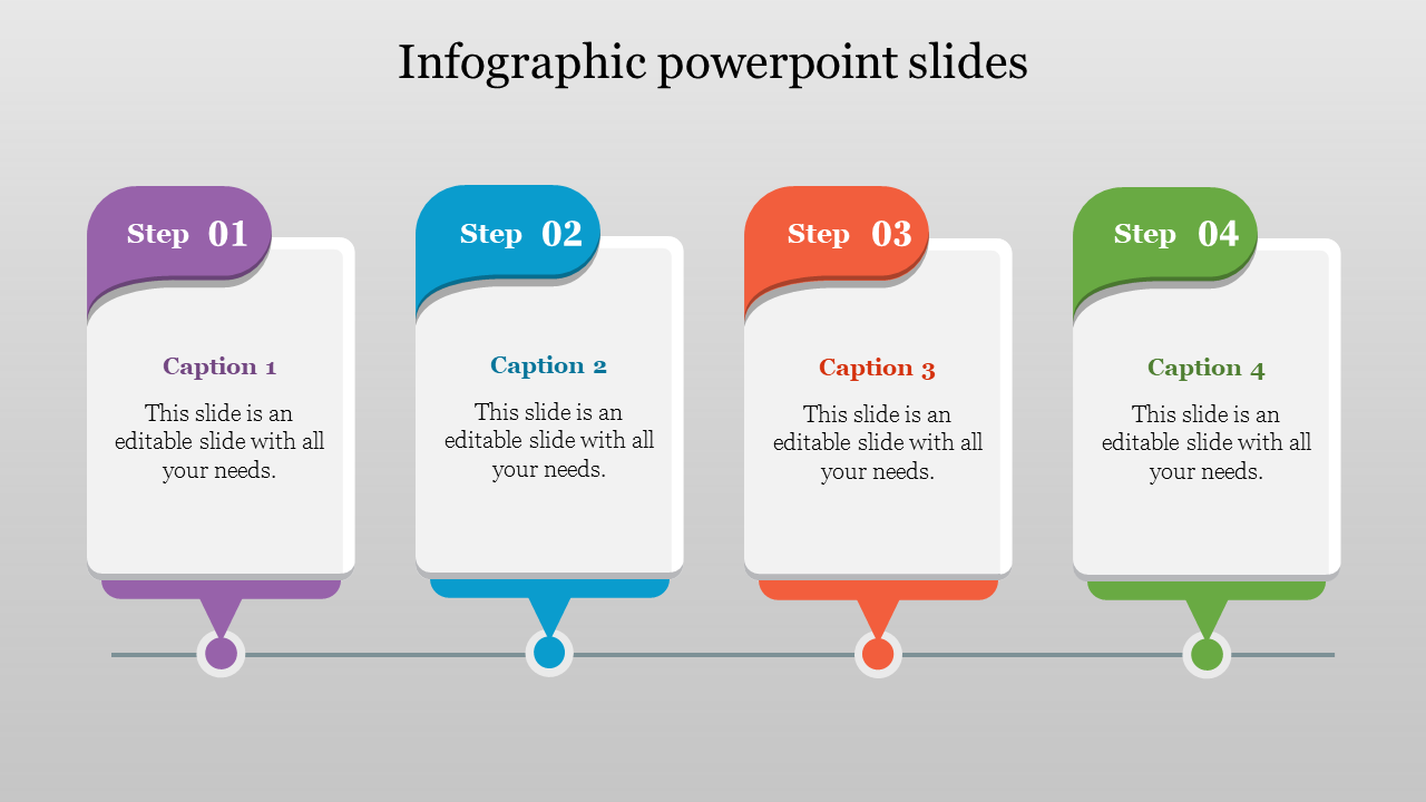 Best Infographic PowerPoint Slides-4 Multi color