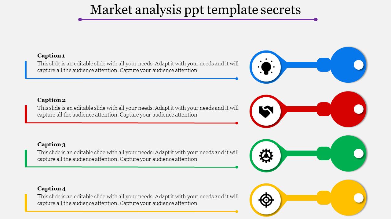 market analysis ppt template slideegg. Black Bedroom Furniture Sets. Home Design Ideas