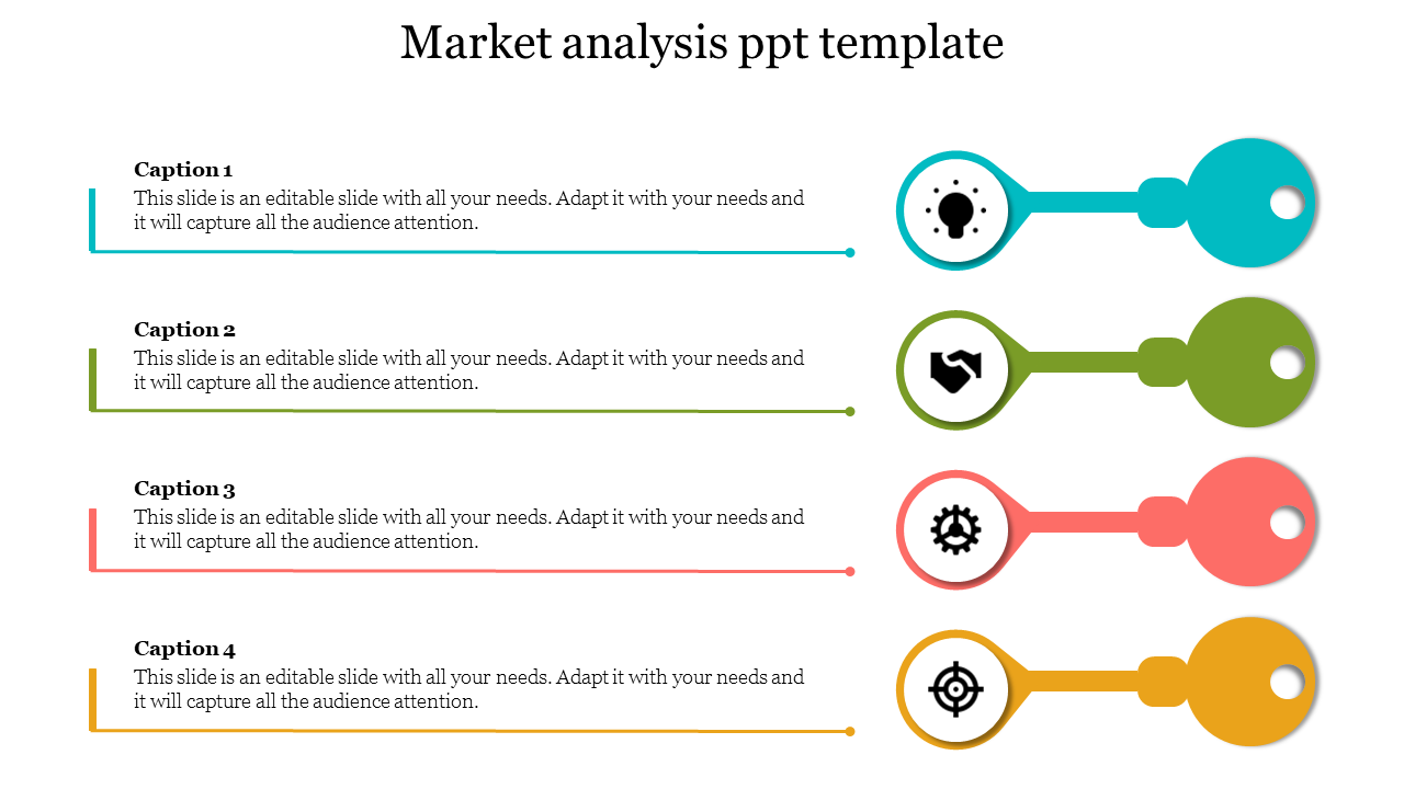 market Analysis PPT Template - Key Model