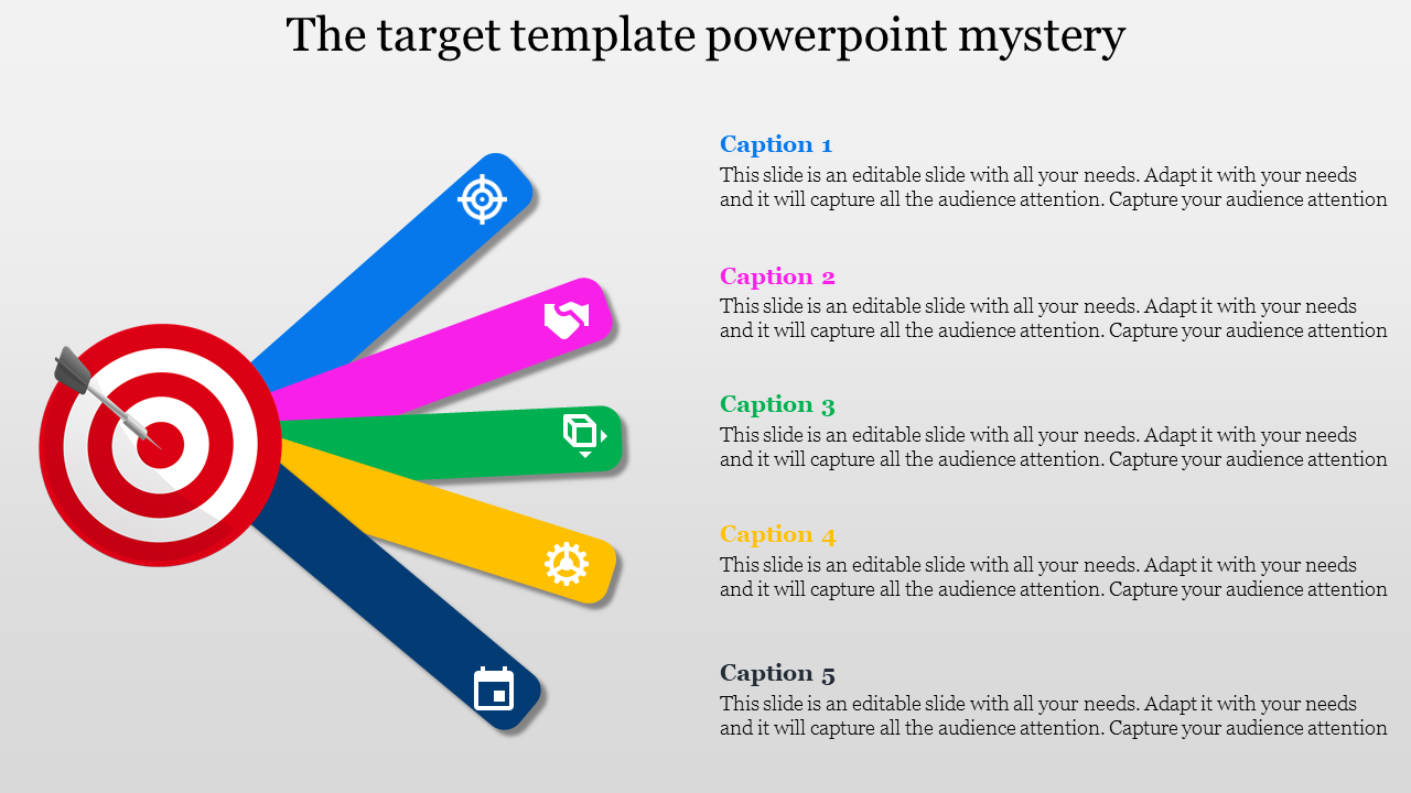 Target Template Powerpoint In Multiplexed Design