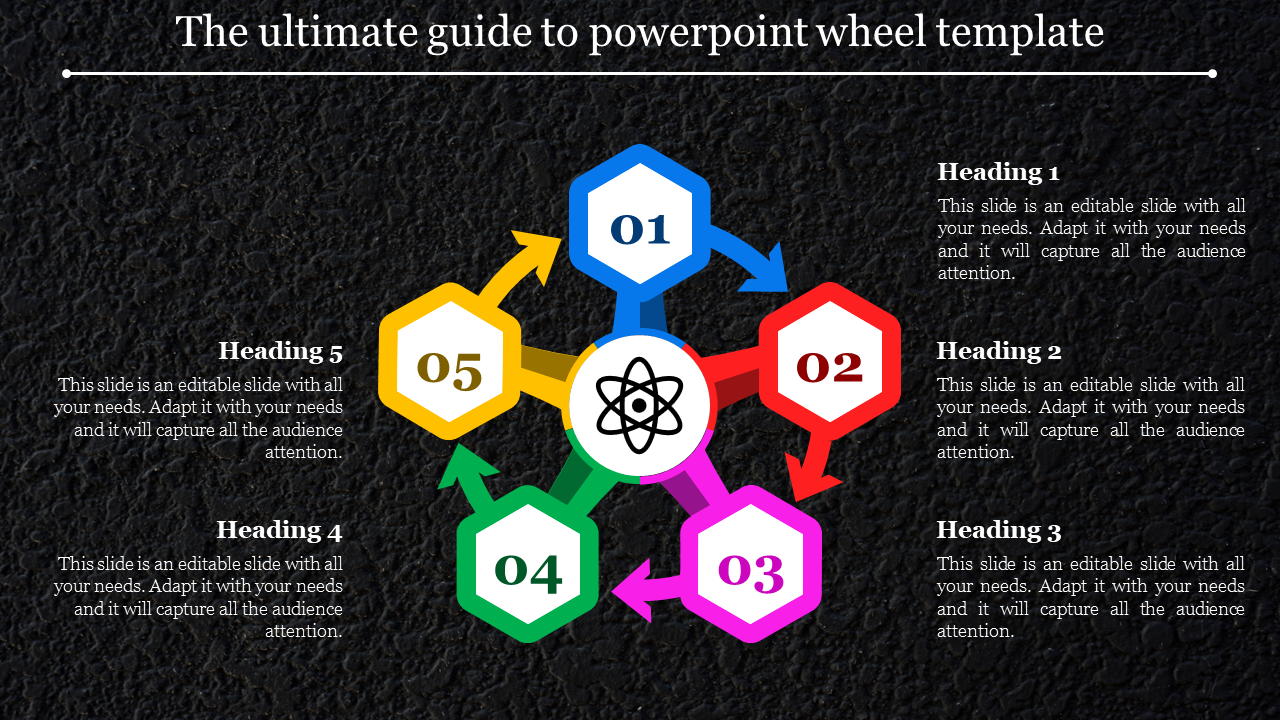 powerpoint wheel template