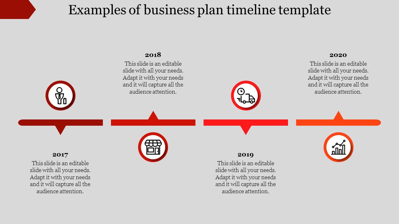 business plan timeline template  key tactics