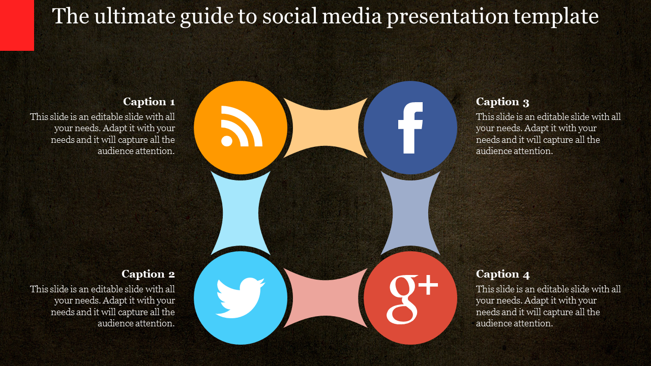 Social Media Presentation Template Circular Loop Design Slideegg