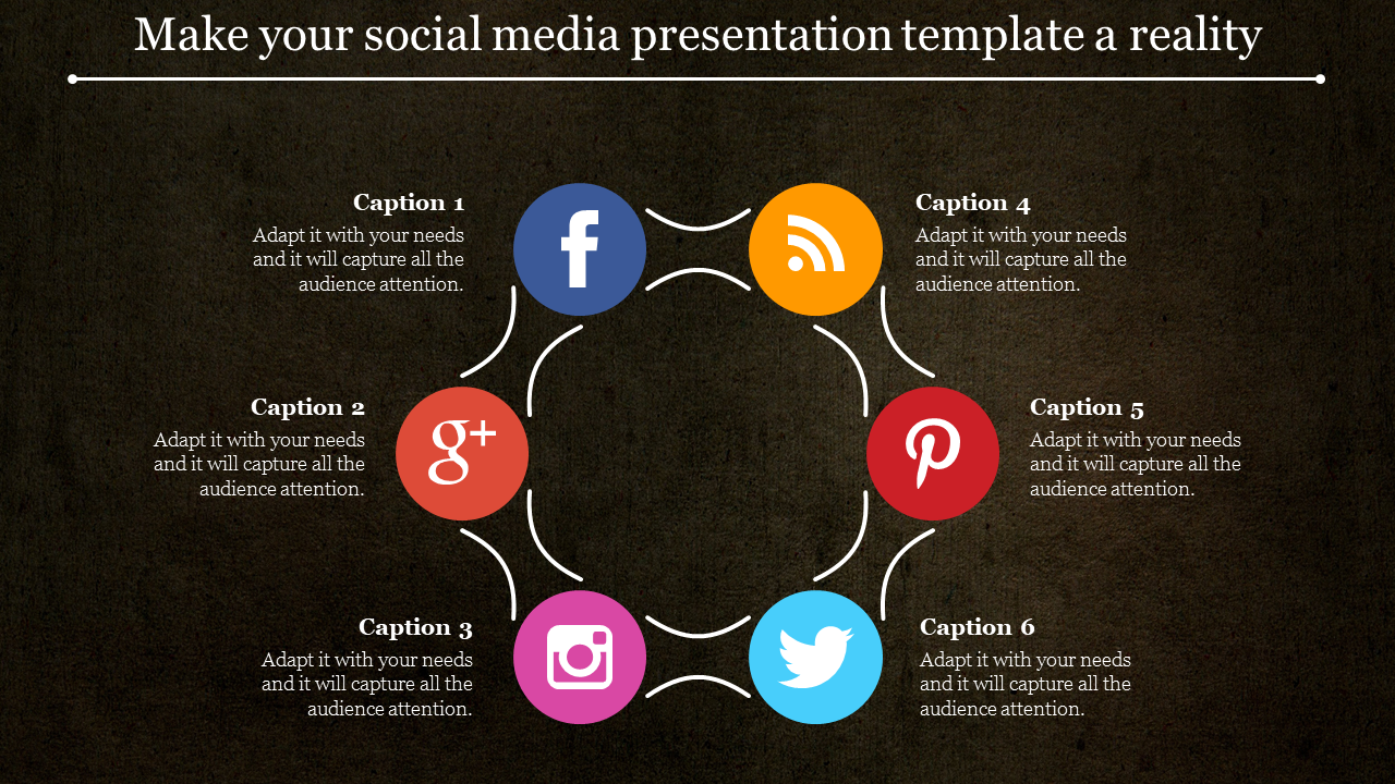 Social media presentation template-circular design