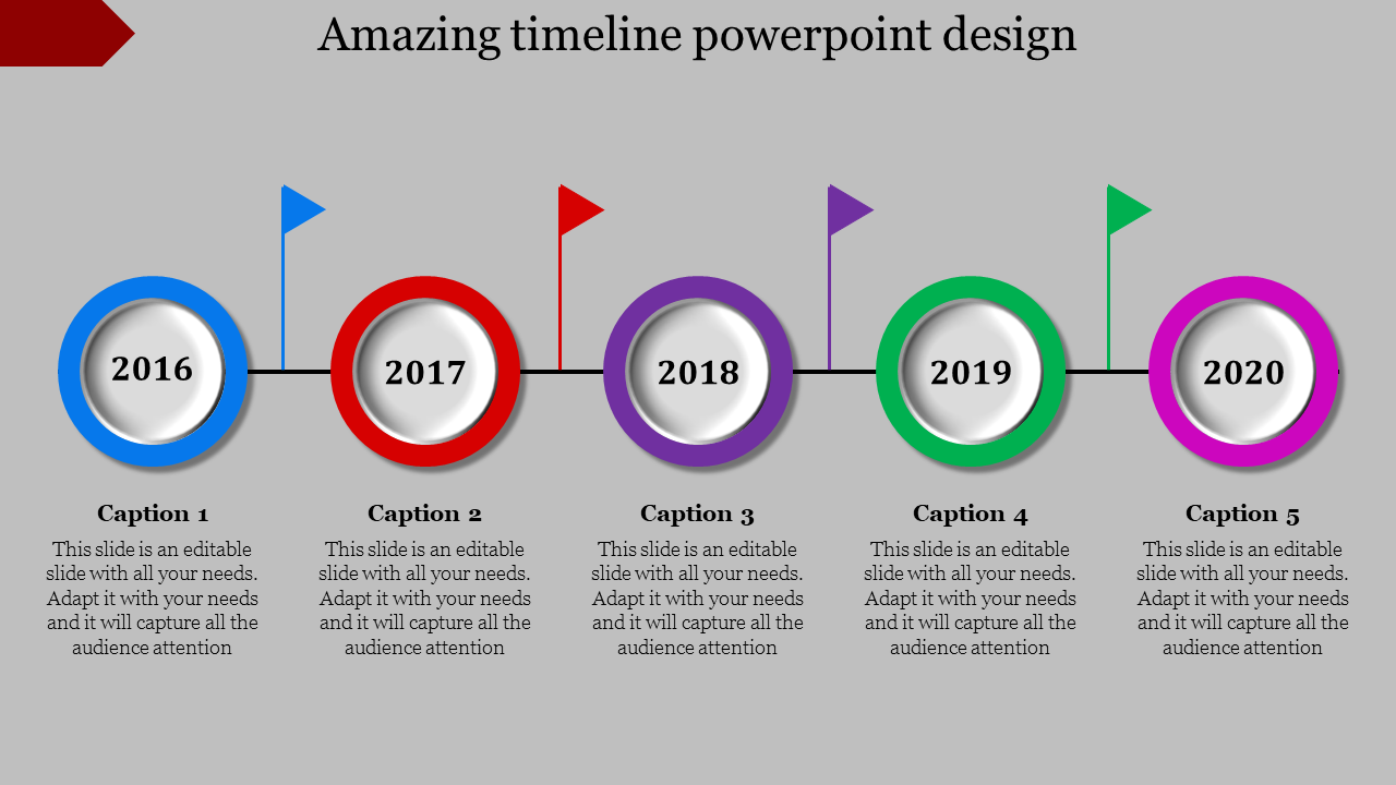 Comprehensible Timeline Powerpoint Design