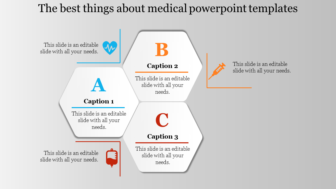 Infographic Medical Powerpoint Templates Hexagonal Shaped