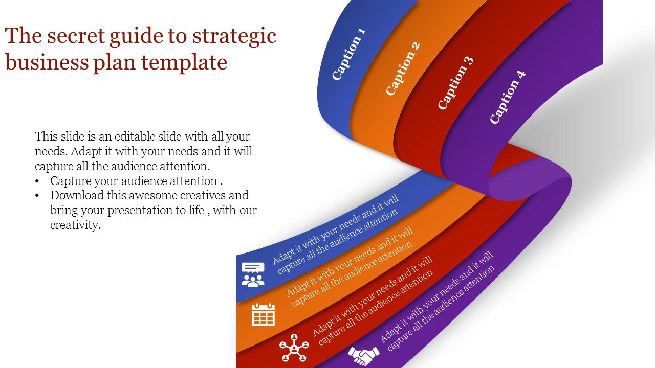 Ribbon Model  Strategic Business Plan Template