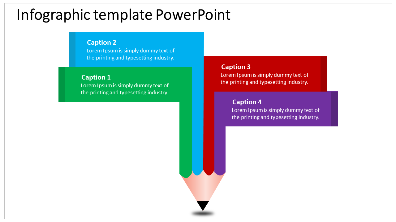 Creative Pencil Infographic template Powerpoint
