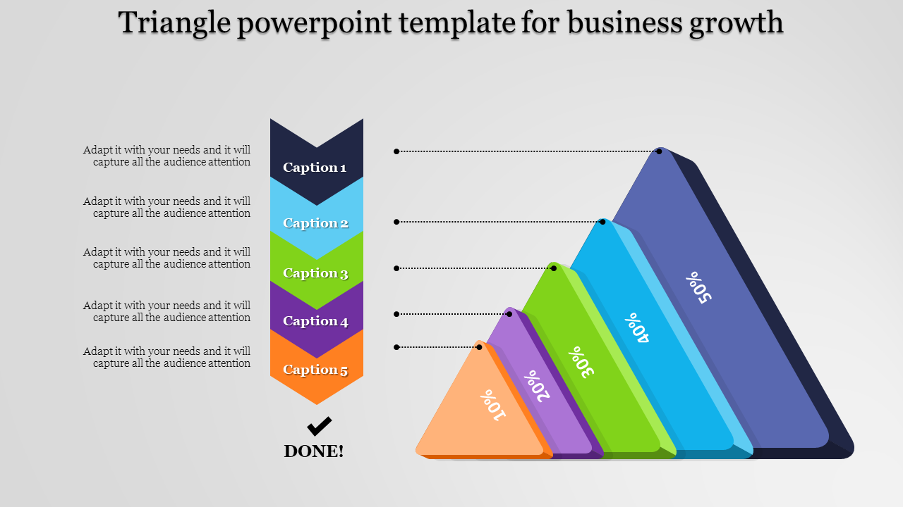 Stages Of Triangle Powerpoint Template